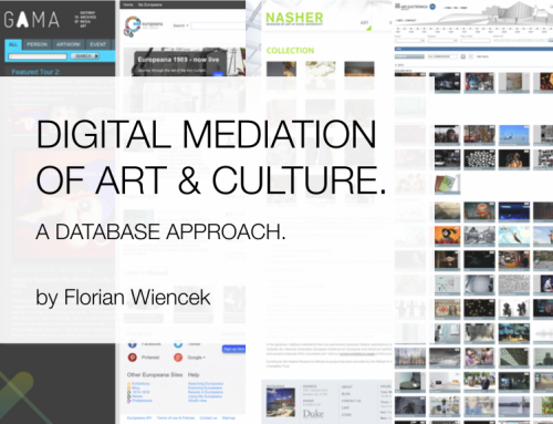 """Digital Mediation of Art and Culture. A Database Approach"" by Florian Wiencek"
