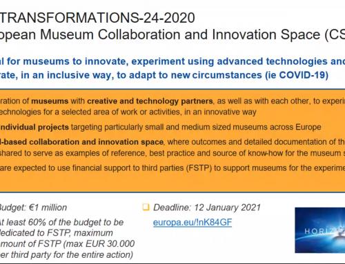 Letzter Horizon 2020 Call für Museumsprojekte